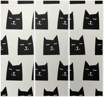 seamless cat pattern Triptych