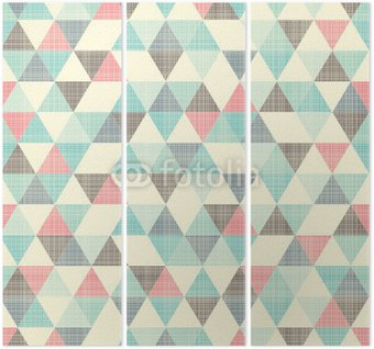 Triptych seamless geometric pattern