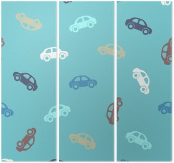 Seamless pattern - cars Triptych