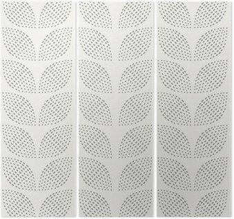 Triptych Seamless Pattern. Hand Drawn. Flower. Background design