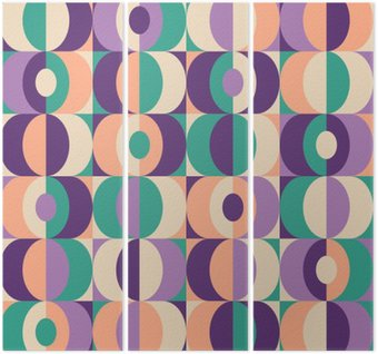 seamless vintage geometric pattern Triptych