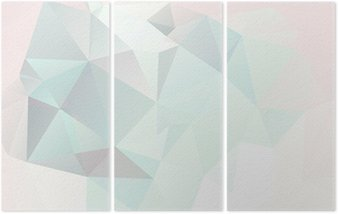 soft pastel abstract geometric background with gradients vector Triptych