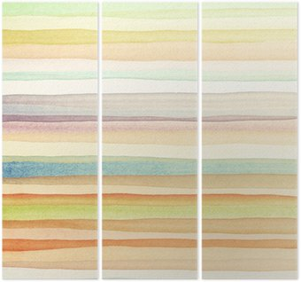 Watercolor background Triptych