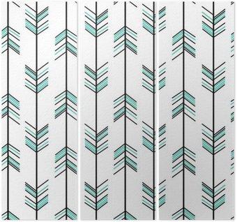 Triptychon Arrow nahtlose Vektor-Muster Hintergrund Hippie-Illustration