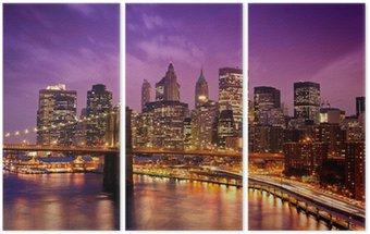 Triptychon Brooklyn Bridge über Manhattan
