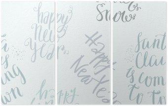 Triptychon Nahtlose Vektor-Schriftzug-Muster