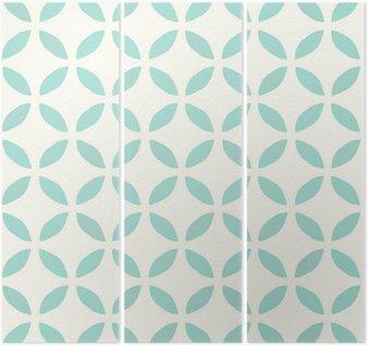 Triptychon Nahtloses Muster. Handgemalt. Blume. Hintergrund-Design