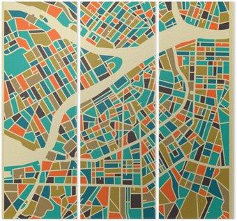 Triptychon Sankt Petersburg Vektorkarte. Bunte Vintage-Design-Basis für die Reise-Karte, Werbung, Geschenk oder Plakat.
