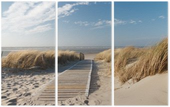 Triptychon Strand an der Nordsee