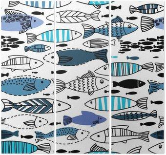 Triptychon Unterwasser-nahtlose Muster mit Fischen. Nahtlose Muster für Tapeten, Web-Seite Hintergründe verwendet werden