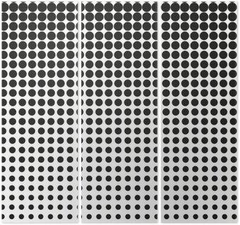Triptych Abstrakt půltón. Černé tečky na bílém pozadí. Půltón pozadí. Vektor půltón tečky. půltón na bílém pozadí. Pozadí pro design