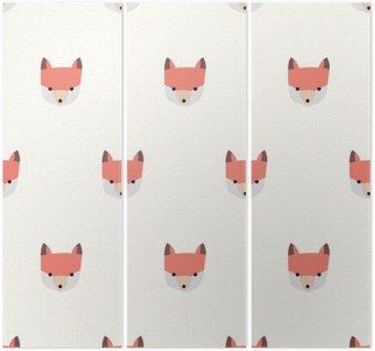 Triptych Bezešvé roztomilý fox vzor
