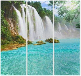 Triptych Detian vodopád
