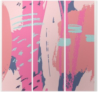 Triptych Hand Drawn Abstract Design