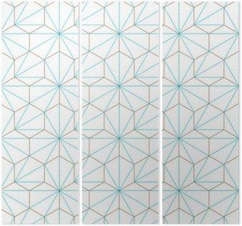 Triptych Hexagone-cube géométrique