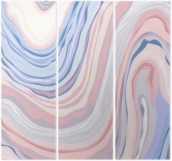Triptych Marble Pattern - Abstraktní textura s Měkké pastely Colors 2016