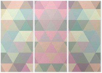 Triptych Mosaic trojúhelník na pozadí. geometrické pozadí