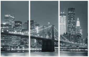 Triptych New York City Brooklyn Bridge