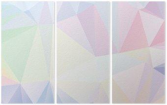 Triptych Pastel Polygon Geometrická