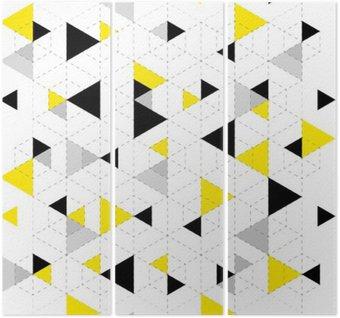 Triptych Pozadí geometrický vzor