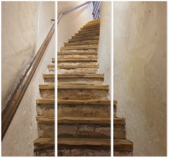 Triptych Schody v hradě Kufstein - Rakousko