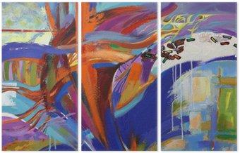 Triptych The Art of abstrakce