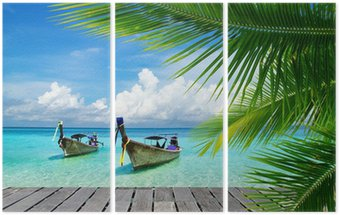 Triptych Tropické moře