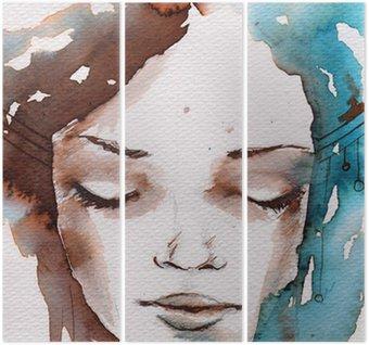 Triptych Zima, zima portrét