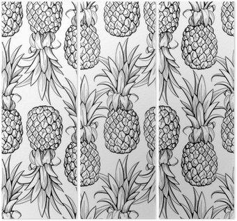 Triptyk Ananas seamless