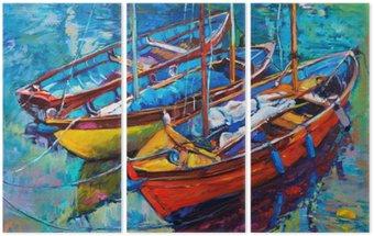 Triptyk Båtar
