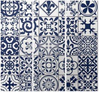 Triptyk Marockanskt kakel sömlösa mönster A