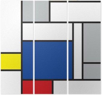 Triptyk Mondrian inspirerad konst