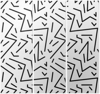 Triptyk Seamless geometrisk tappning mönstrar i retro 80s stil, Memphis. Idealisk för tyg design, papper tryck och webbplats bakgrund. EPS10 vektorfil