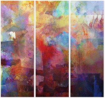 Triptyk Texturer målning