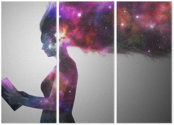 Triptyk Universum kvinna