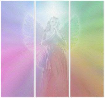 Triptyque Ange de Lumière Divine, léger flou