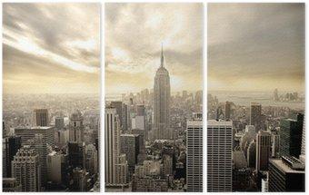Triptyque Ciel nuageux sur Manhattan
