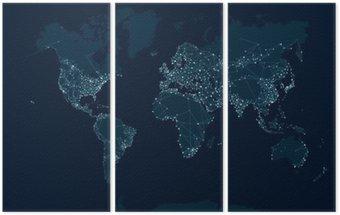 Triptyque Communications carte du réseau du monde