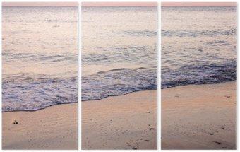 Triptyque Coucher de soleil sur la plage