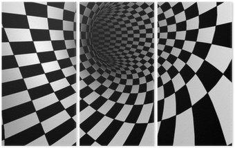 Triptyque Damiers texture 3d