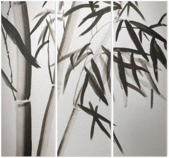 Triptyque Feuilles de bambou