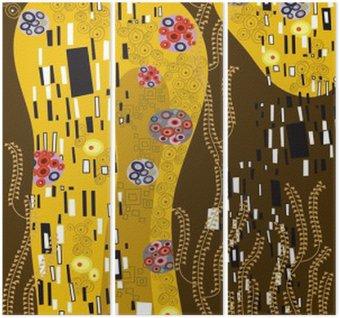 Triptyque Klimt inspiré l'art abstrait