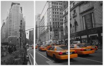 Triptyque Les taxis à Manhattan