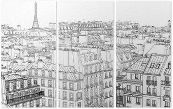 Triptyque Les toits de Paris