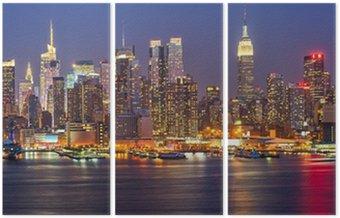 Triptyque Manhattan de nuit
