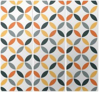 Triptyque Motif géométrique orange Retro Seamless