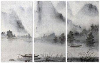 Triptyque Peinture chinoise