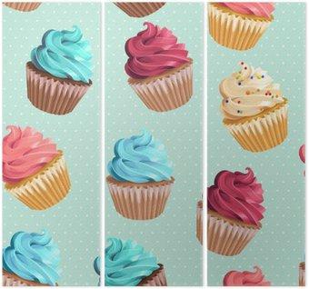 Triptyque Petits gâteaux sans soudure et à pois