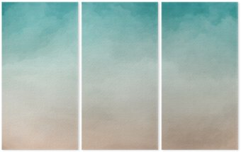 Triptyque Résumé de la texture d'aquarelle