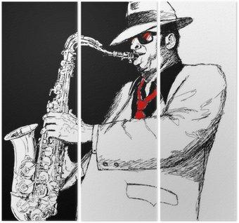 Triptyque Saxophoniste
